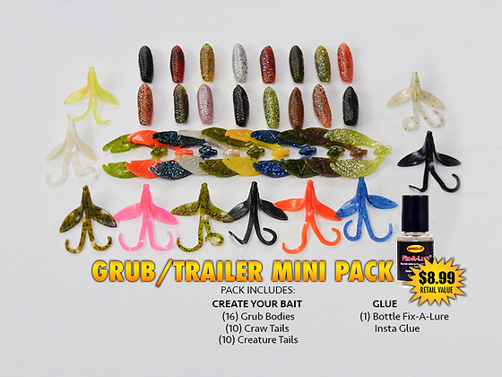 Create Your Bait GRUB/TRAILER Mini Pack