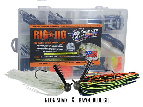RIG-A-JIG Mini Combo Kit_Bayou Blue Gill X Neon Shad