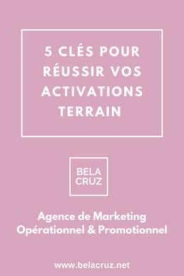 BelaCruz vous propose 5 conseils clés pour réussir vos activations terrain.