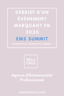 EMS SUMMIT - DÉBRIEF D'UN ÉVÈNEMENT MARQUANT EN 2020