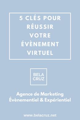 BelaCruz vous propose 5 conseils clés pour réussir votre évènement virtuel