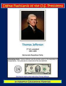 Digital Flashcards of the U.S. Presidents, by Habakkuk Educational Materials
