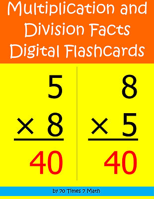 Multiplication and Division Facts Digital Flashcards, by 70 Times 7 Math (a division of Habakkuk Educational Materials)