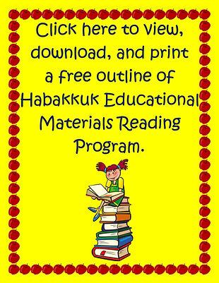 Habakkuk Educational Materials Reading Program