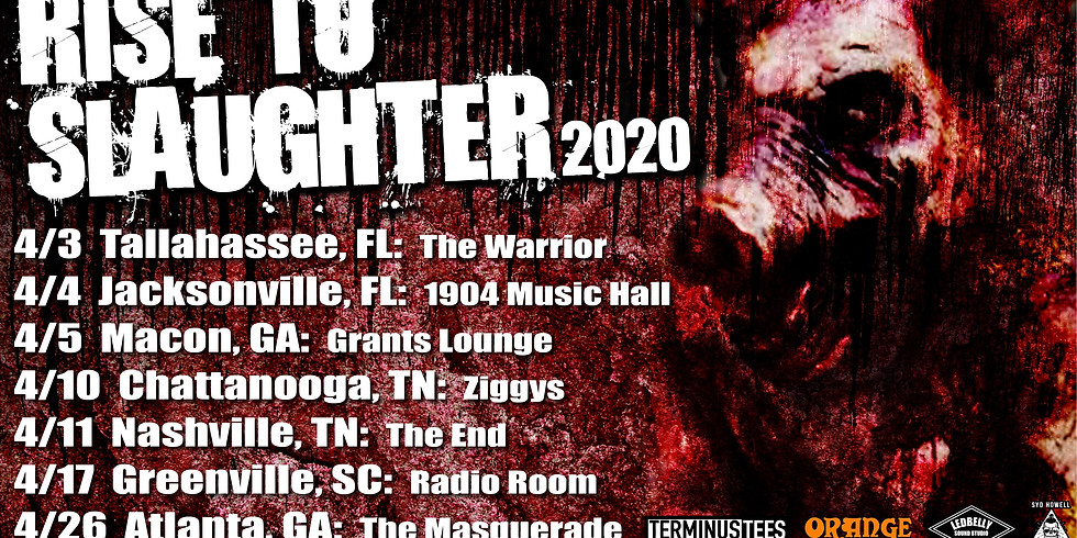 Syd Howell presents Rise to Slaughter Tour 2020