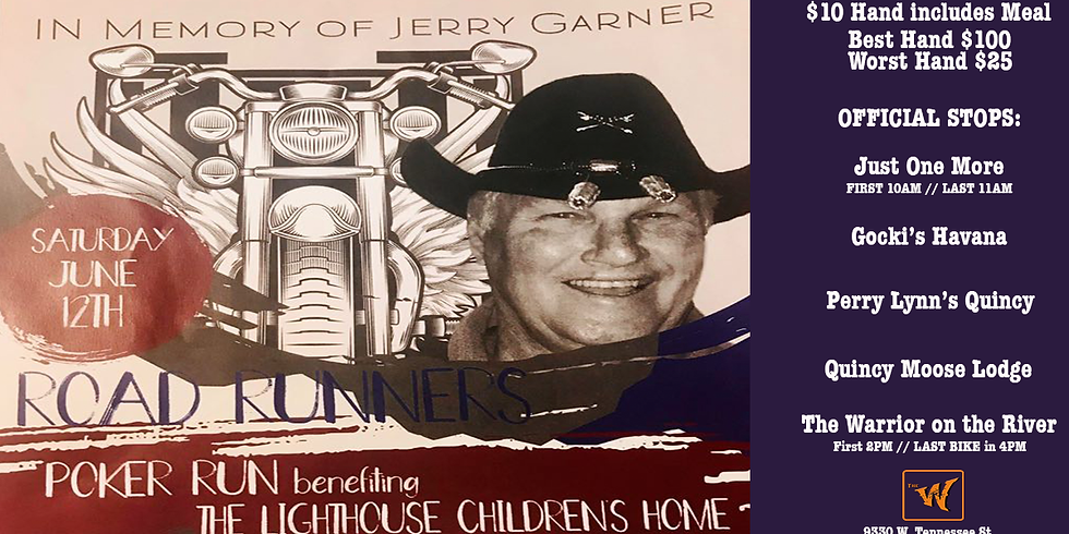RoadRunners Poker Run in Memory of Jerry Garner benefiting the Lighthouse Children's Home