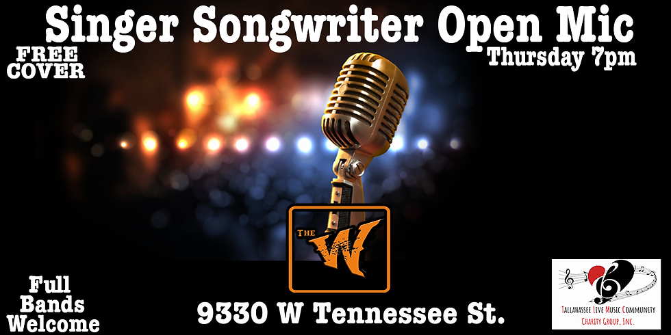 Singer Songwriter Open Mic - Full Bands Welcome - Hosted by Dan Strauss - Free Cover
