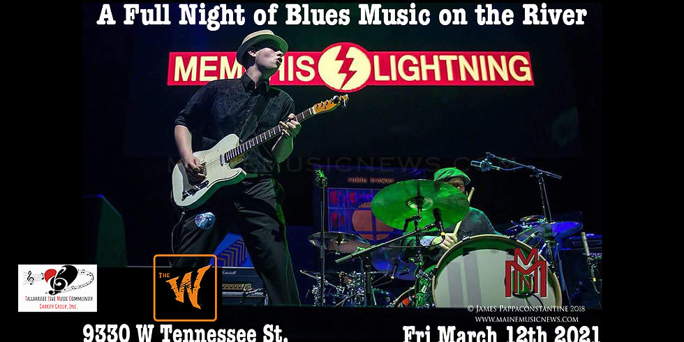 Memphis Lightning a full night of Blues Music on the River in Tallahassee, Fl Fri Mar 12th (old Riverfront Saloon)