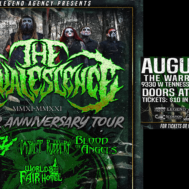 The Convalescence 10 Year Anniversary Tour in Tallahassee, FL at The Warrior on the River
