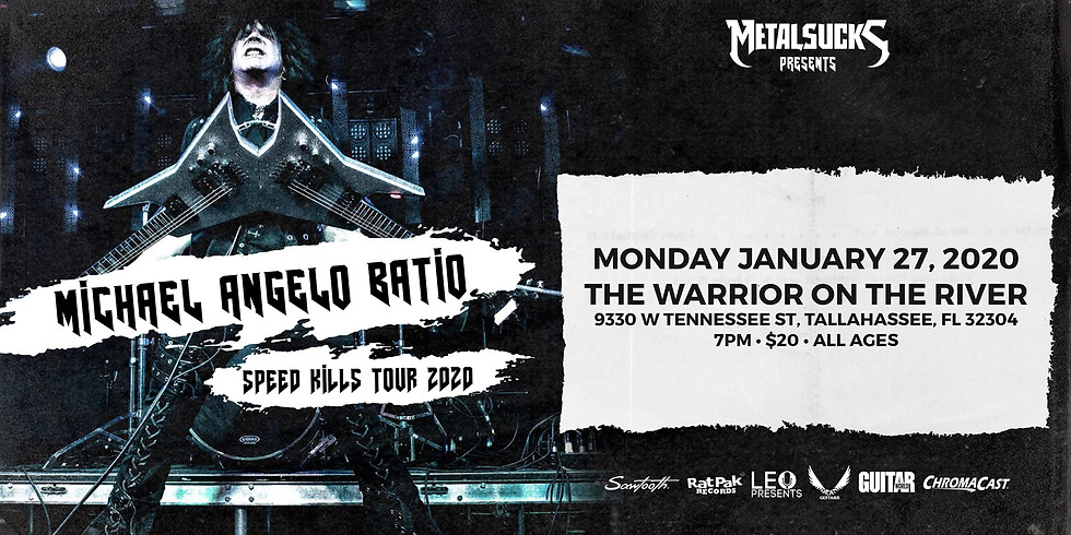 Michael Angelo Batio - Speed Kills Tour 2020 at Warrior On The River