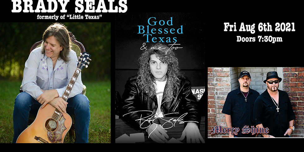 """Brady Seals formerly of """"Little Texas""""  & Mercy Shine Tallahassee, FL at The Warrior on the River"""