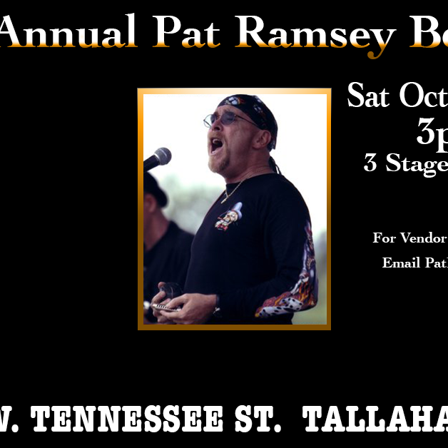 11th ANNUAL PAT RAMSEY BENEFIT FOR Big Bend Hospice SATURDAY October 16th 2021