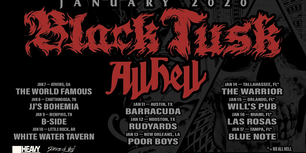 Black Tusk / All Hell & more!