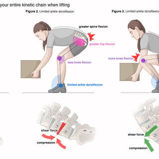 Liftiing with Limited Ankle Dorsiflexion