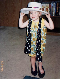 Kailey playing dress up at the after party