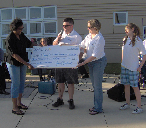 In May of 2009 we made a donation to ECEFC for the building of a barn structure.