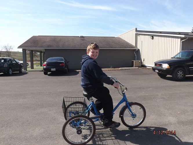 In March of 2014 we contributed toward the cost of Charlie's bike.