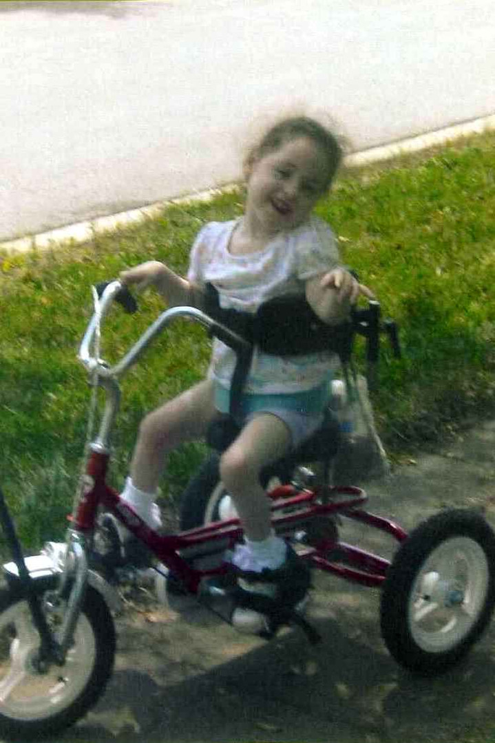 In April of 2009 we gave Tiffany a bike.