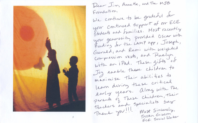 2020 May Susan Gibson Thank You Note