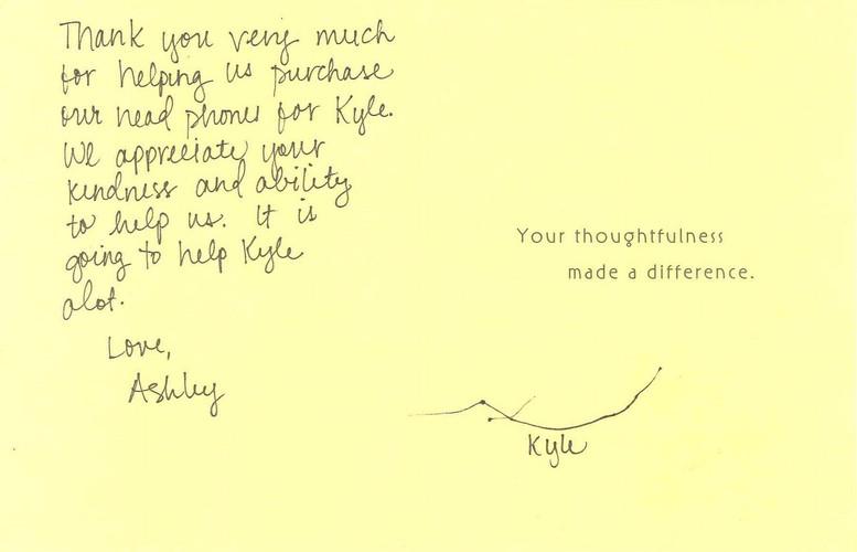 Kyle Thank You