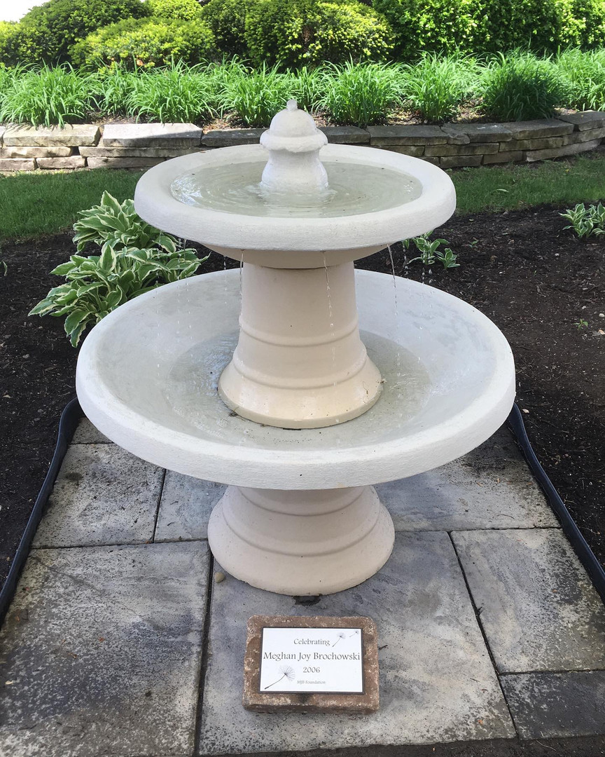 In 2005 we donated a fountain in Meghan's name to ECEFC