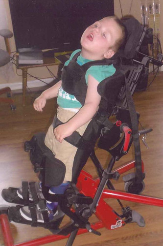 In April of 2012 we gave Haydin a stander.