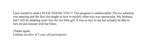 Toys for Tots Parent Thank You