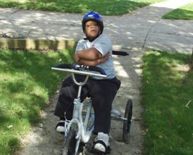 In June of 2010 we gave Jaiden a bike.