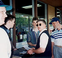 Jim Brochowski at the first annual Golf for Joy Tournament in 1995