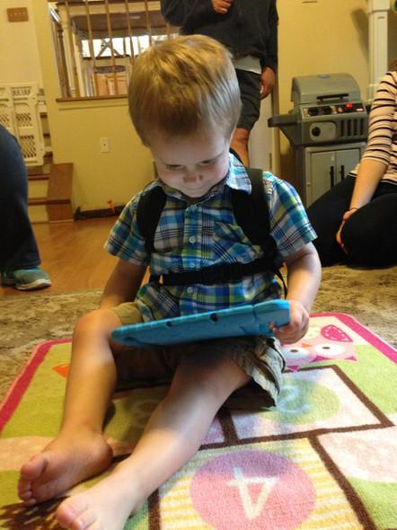 In May of 2016 we gave Simon an iPad.