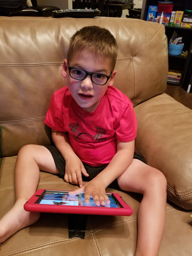 In November of 2016 we gave Quentin an iPad.
