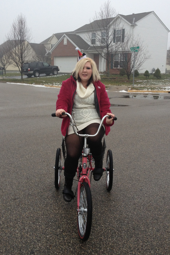 In November of 2012 we gave Ally a bike.