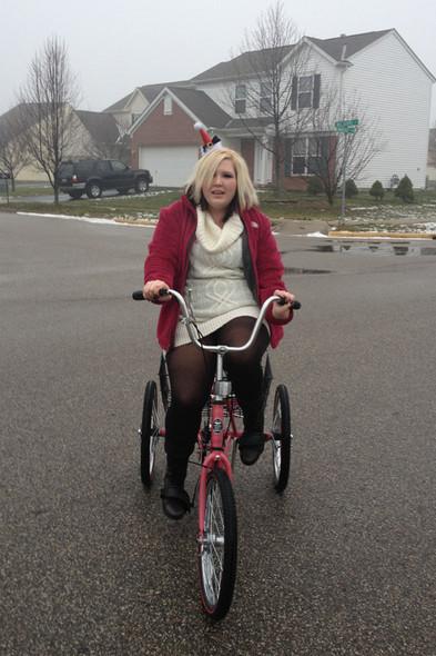 In November of 2012 we gave Ally a bike.