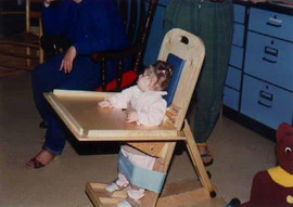 Using a stander, Meghan would work at a computer