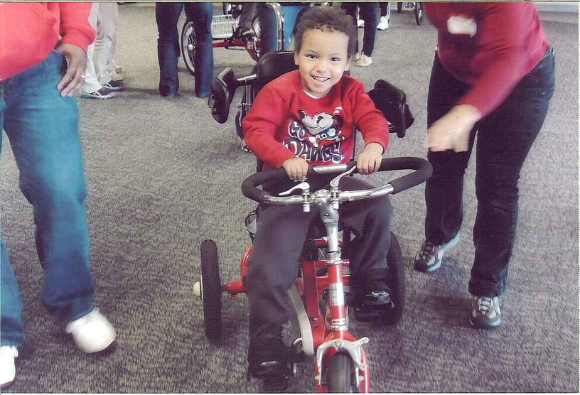 In the Spring of 2014 we gave Phillip a bike.
