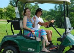 Debi and Joe Garbuglio out on the course