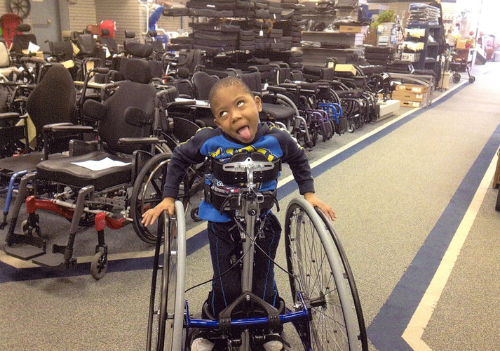 In January of 2013 we gave Corey a stander.