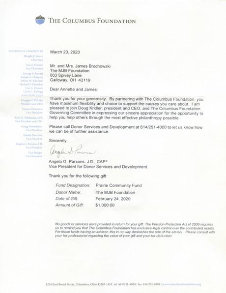 2020 February Columbus Foundation
