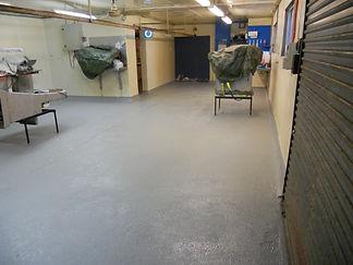 Concrete floor after treatment