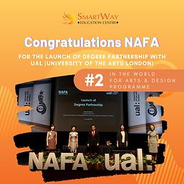 Congratulations NAFA partnership with UAL!