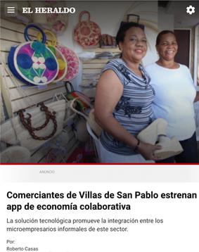 El lanzamiento de Quipu en Villas de San Pablo en la prensa colombiana / Quipu's launch featured