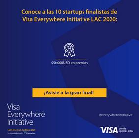 Finalist of Visa Everywhere Initiative LAC 2020