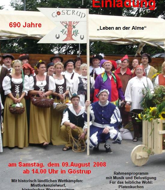 Einladung zur 690 Jahr Feier 2008