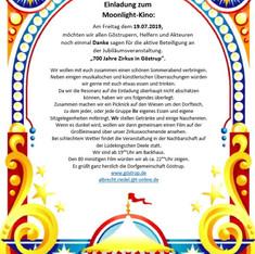 Einladung zum Mondscheinkino