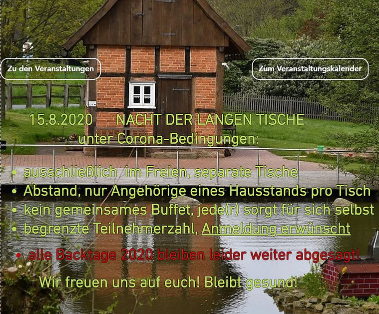 Dorfgemeinschaft Göstrup Ankündigung 2020