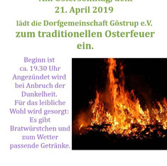 Plakat Osterfeuer 2019