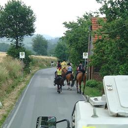 Dorffest 2003 Pferdegruppe