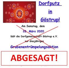 Absage Dorfputz 2020