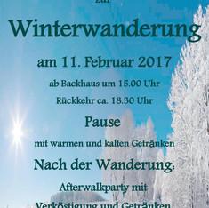 Einladung zur Winterwanderung 2017