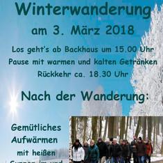 Einladung zur Winterwanderung 2018